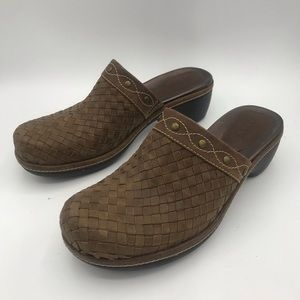 Ecco Clogs Woven Leather size 9 and 8